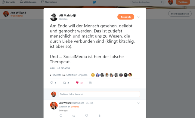 Screenshot von einem Tweet von Ali Mahlodji