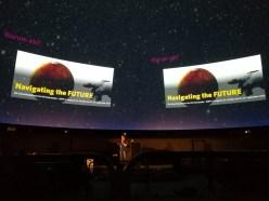 DGFP Congress, navigating the future, Bühne des Zeiss Planetariums während eines Vortrag