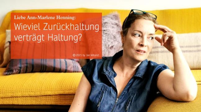 Ann-Marlene Henning im Gespräch mit Jan Willand zu Haltungsfragen, Employer Standing